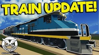 DRIVING THE NEW TRAIN INTO A TSUNAMI! - Stormworks: Build and Rescue Gameplay - Train Update