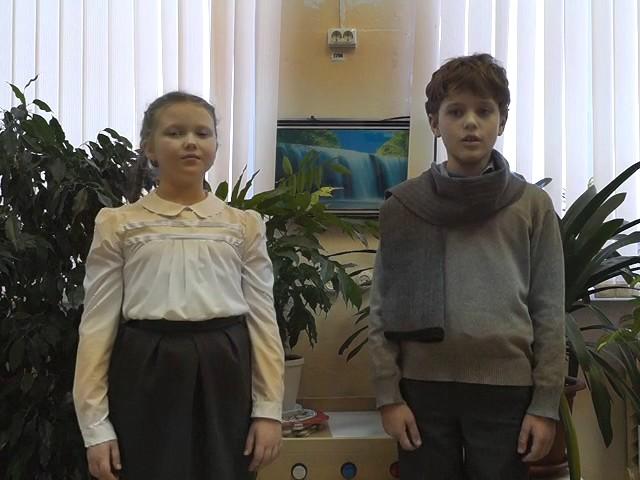 Изображение предпросмотра прочтения – «Пестяковская школа 3 а класс» читают произведение «Стрекоза и Муравей» И.А.Крылова