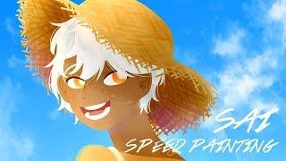 SAI speed paint 여름 일러스트