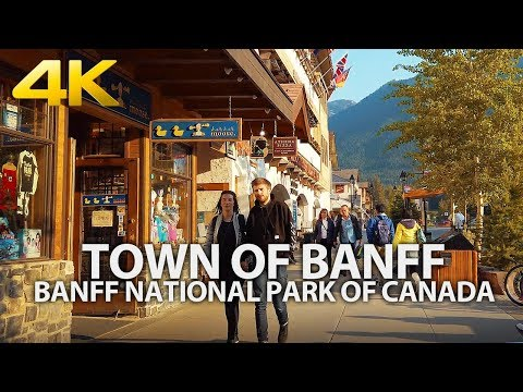 BANFF NATIONAL PARK - Town of Banff, Alberta, CANADA, Travel, 4K UHD