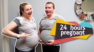 Ryan is Pregnant for 24 Hours! Trying Pregnancy Simulator! / Becca and Ryan Show