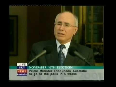 John Howard Announces 2001 Federal Election (Oct 5, 2001)