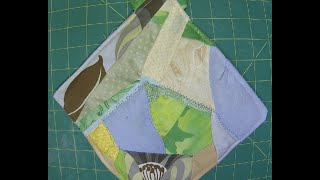 Crazy Quilt Pot Holder tutorial