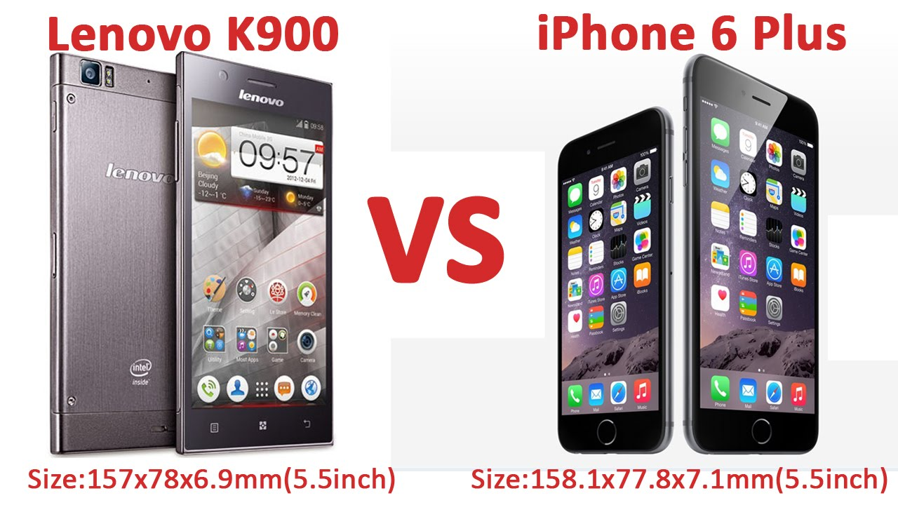 width of iphone 6 plus 5 5 inch lenovo k900 vs 5 5 inch iphone 6 plus size 6945