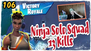 Ninja Dominator skin Fortnite Game Play Solo Squad