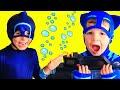 PJ Masks Gekko STOPS Night Ninja with his SUBMARINE 2 Full Episodes with Night Ninja's Ninjalinos