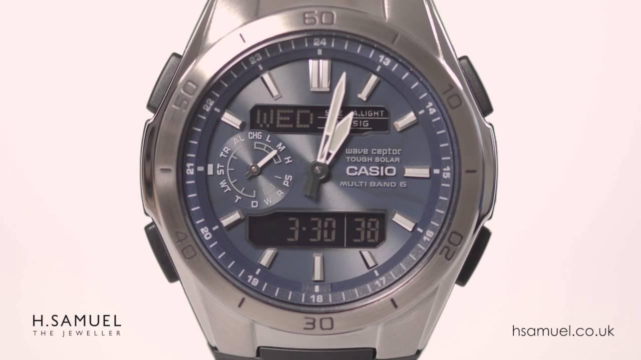 7c9fbf209ec1 Casio Wave Ceptor Men s Blue Dial Black Resin Strap Watch WVA-M650-2AVEF -  YouTube