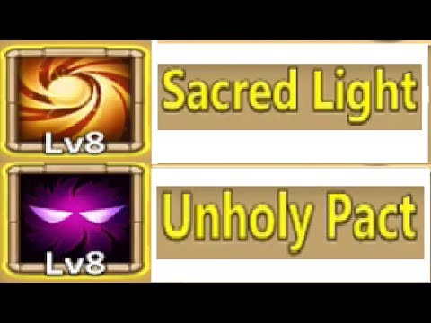 New Talents Unholy Pact & Sacred Light Choosing Heroes For Both Castle Clash