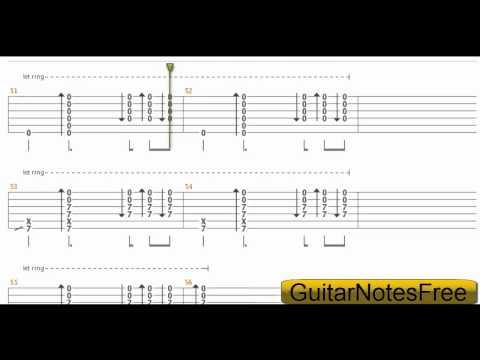 Skinny Love - Bon Iver Guitar Tab HD