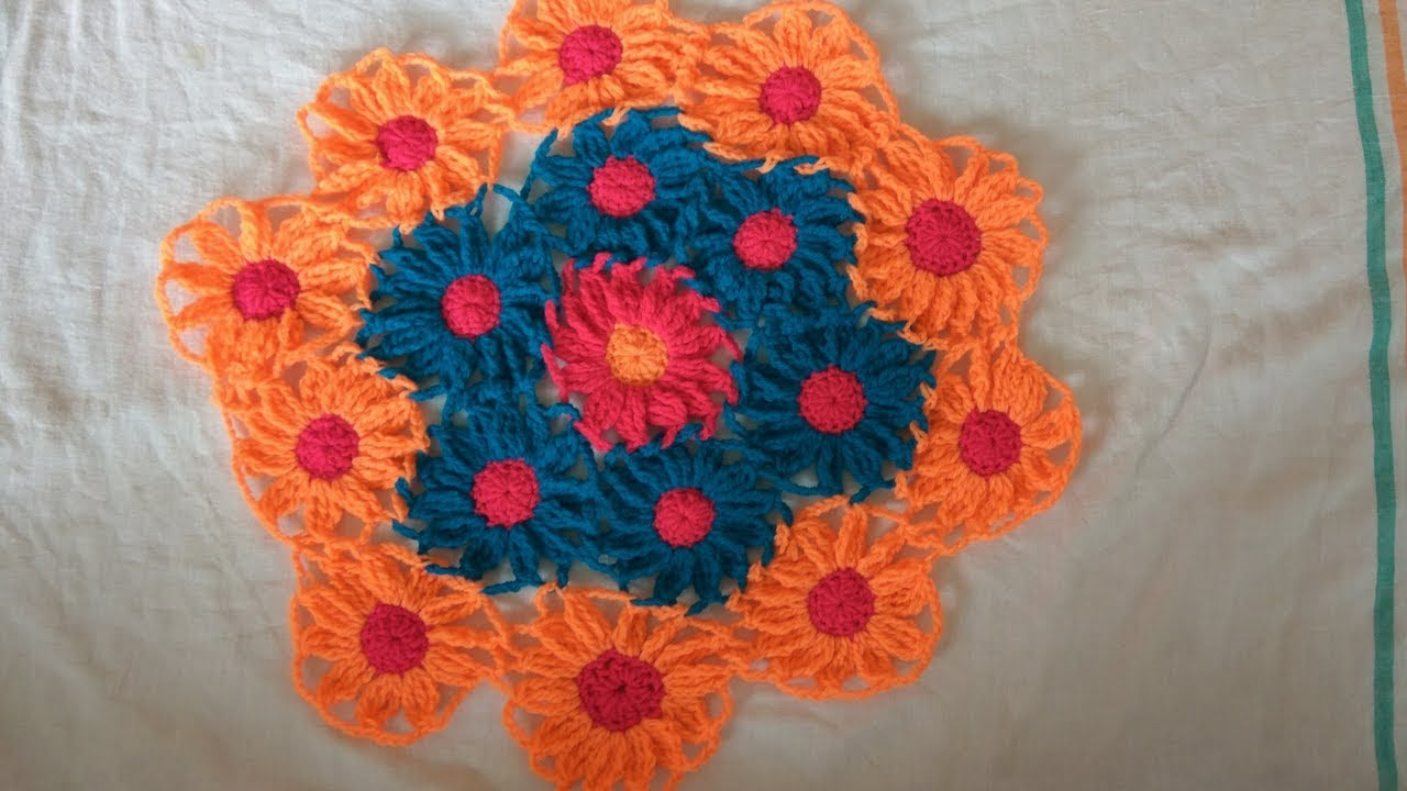 how to make a tablecloth with flower design youtube