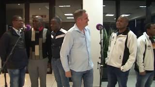 Rian van Heerden sings with Ladysmith Black Mambazo