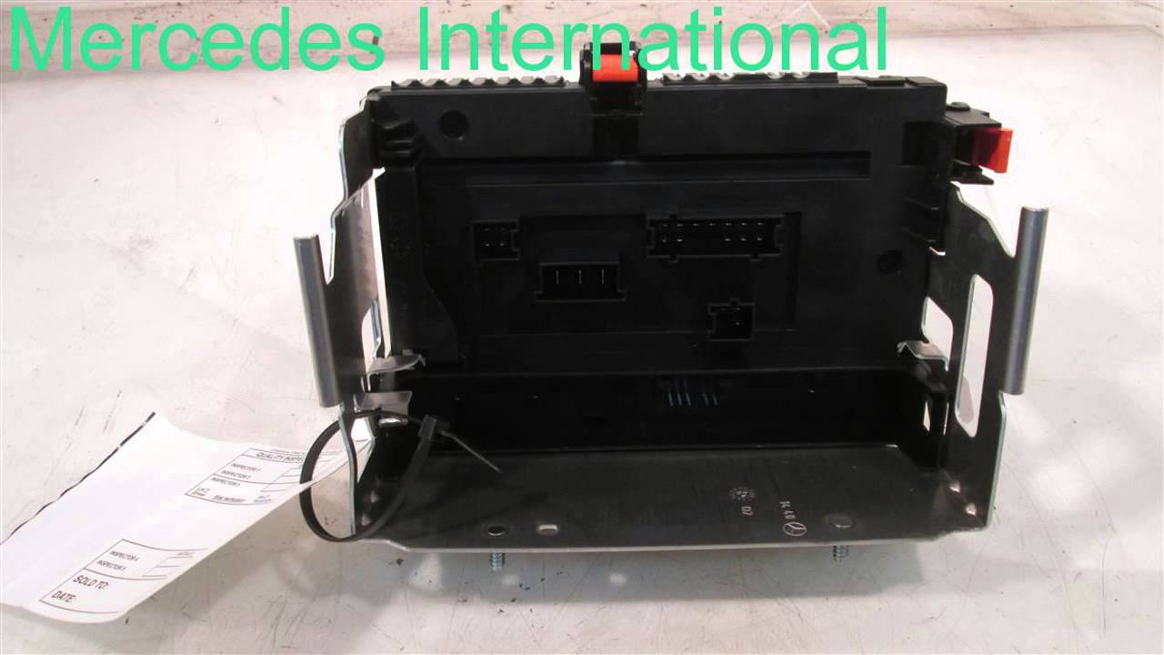 small resolution of 2008 mercedes s550 rear sam fuse box 2215403550 mbiparts com used oem mercedes parts dism oem youtube