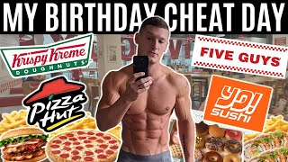 ULTIMATE BIRTHDAY CHEAT DAY *eating my favourite foods for 24 hours*