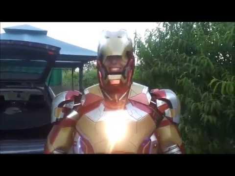 DANY BAO - Dana Labo ironman mark 42  faceplate airbrakes  armor suit electronic motorized cosplay