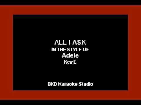 all-i-ask-(in-the-style-of-adele)-(karaoke-with-lyrics)