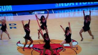 Chicago Luvabulls perform at 2014 home opener