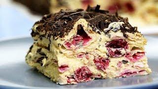 Торт без ВЫПЕЧКИ ВИШНЕВОЕ БЛАЖЕНСТВО 15 минут и готово НЕВОЗМОЖНО вкусный ТОРТ и без печенья