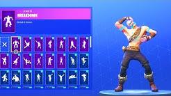 new ragnarok skin with 50 emotes dance emotes showcase fortnite battle royale duration 8 31 - ragnarok fortnite skin