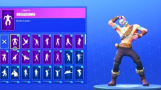 *NEW* RAGNAROK SKIN with 50+ EMOTES/DANCE EMOTES SHOWCASE! Fortnite Battle Royale