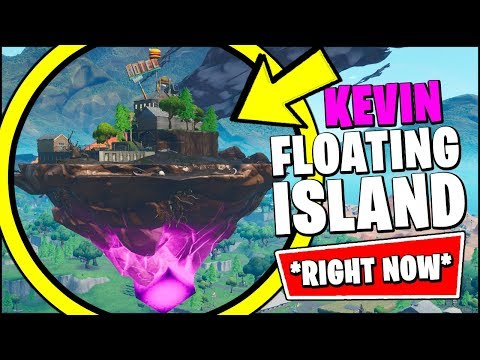 FLOATING ISLAND IS BACK *RIGHT NOW* (FORTNITE SEASON X KEVIN THE CUBE FLOATING ISLAND GAMEPLAY)