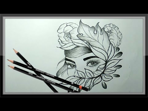 cool-pencil-drawing-a-beautiful-face-picture-➤easy