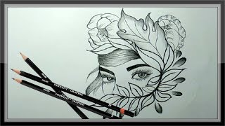 pencil cool drawing easy face