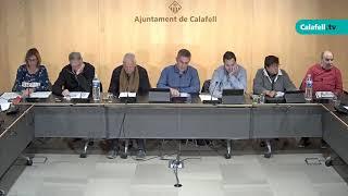Ajuntament de Calafell: sessió plenària ordinària, 7 de gener de 2019