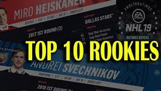 Top 10 Rookies Revealed! NHL 19