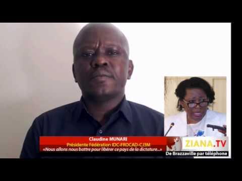 Interview de Claudine Munari après la manifestation reprimée du 27 novembre 2017 à Brazzaville