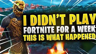 I Didn't Play Fortnite For A Week, This is What Happened... (Fortnite Season 8 Aim/Building Test)