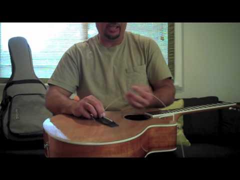 Restringing a Steel String Guitar