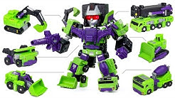 Transformers Construction Devastator Mini SD Hercules Vehicle Combine Robot Car Toys