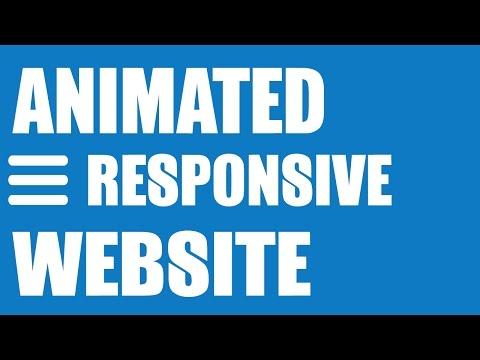 Animated Responsive Website Tutorial - HTML5/CSS3, Image Slider & Drop Down Menu
