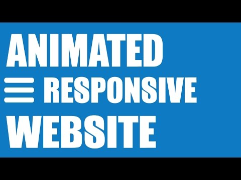 Animated Responsive Website Tutorial - HTML5/CSS3, Image Slider & Drop Down Menu