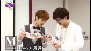 110613 Yahoo! Music Taiwan - Henry and Zhou Mi (Part 2)