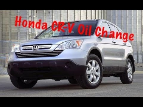 2007 2011 Honda Cr V Oil Change Youtube