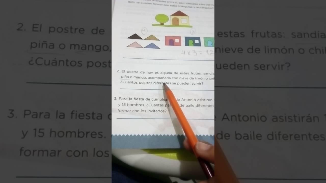 Lección 13 Combinaciones Desafíos Matemáticos 4° - YouTube