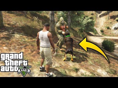 ¿Qué pasa si Chop Pelea Contra El Bigfoot En GTA 5? GTA V Experimentos
