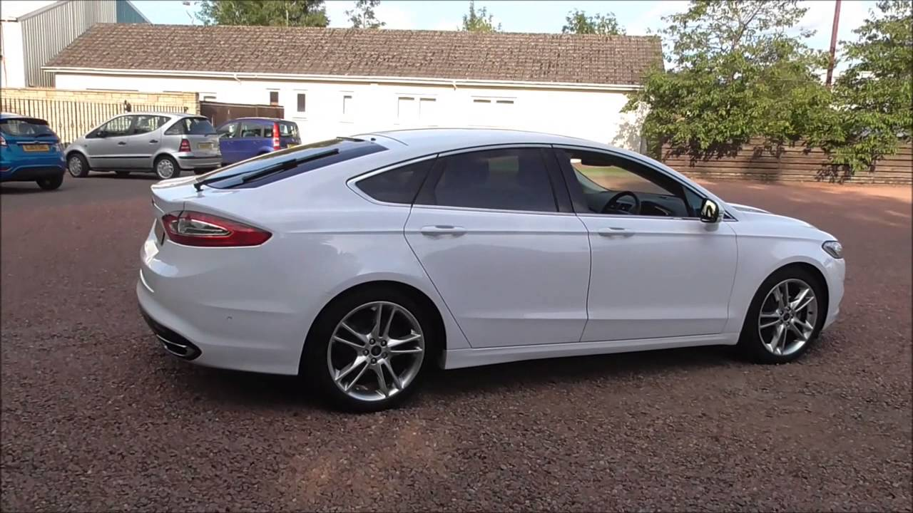 Ford Mondeo 2015 White >> Ford MONDEO 2.0 TDCi 180 Titanium [X Pack] 5dr U14658 - YouTube