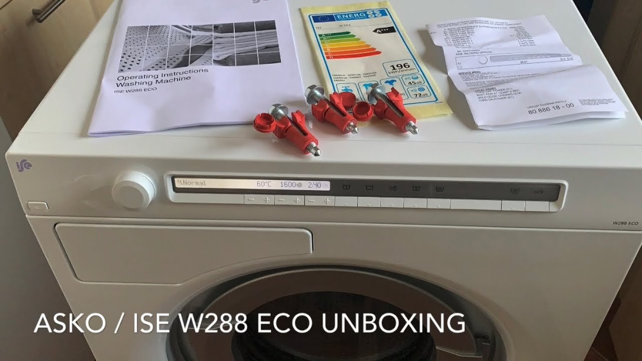 Download Asko ISE W288ECO - Unboxing, a look inside, all programmes and options...