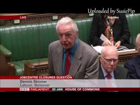 Dennis Skinner 30.01.2017 - Job Centre Closures Question