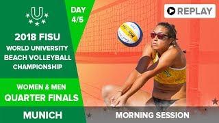 Beach Volleyball - 1/4 Finals - 2018 FISU World University Championship - Day 4 - Morning Session