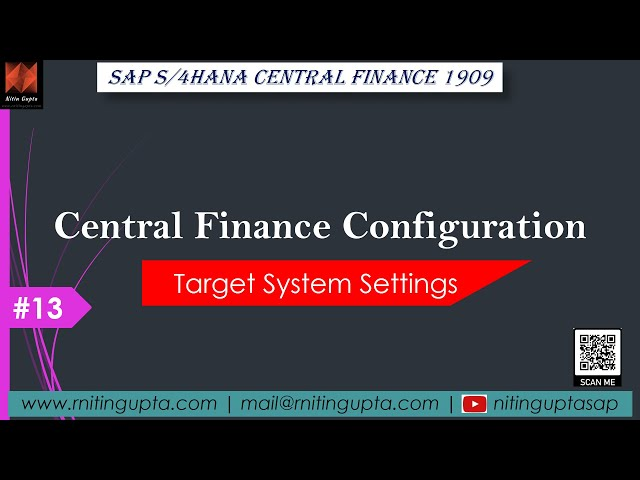 SAP Central Finance - Configuration Video 13