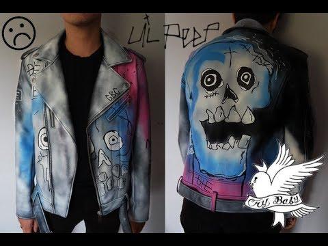 878a08e21 Lil Peep NEVER SAY DIE jacket DIY | △rtystyczny Burdel Zuzi