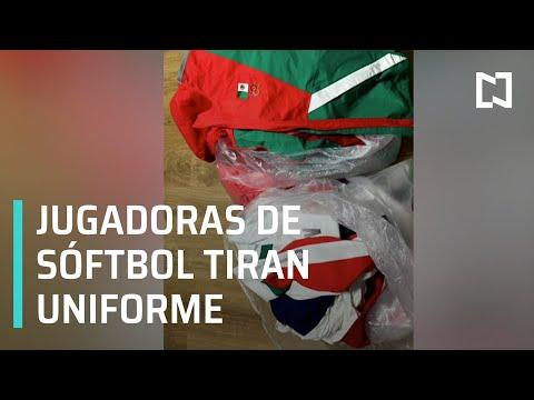 Jugadoras de sóftbol mexicano tira sus uniformes de Tokyo 2020 a la basura - Despierta