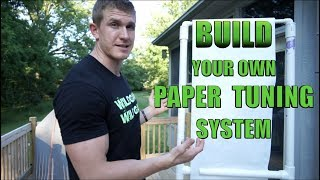 How To Build A Paper Tuning Rack At Home | Bowmar Bowhunting |