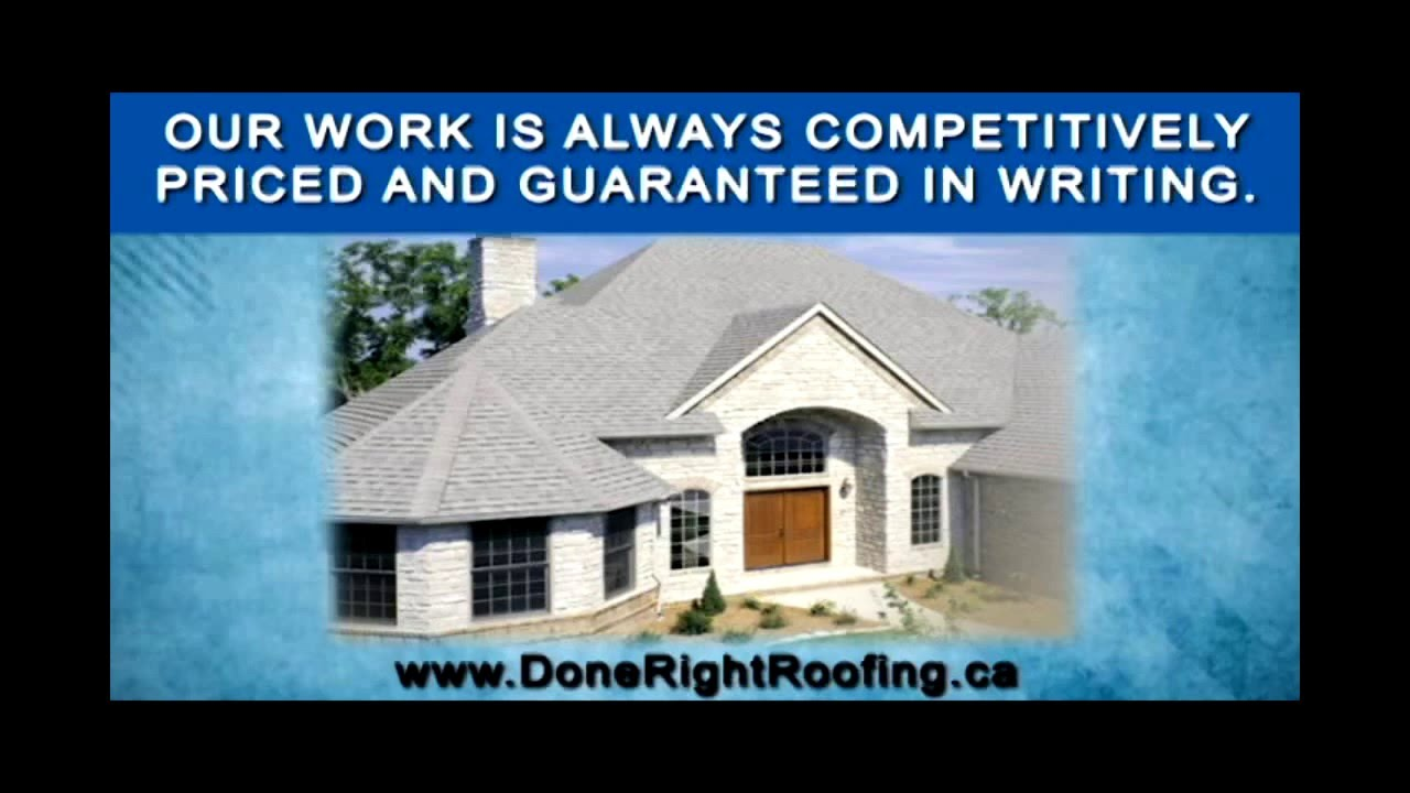 Done Right Roofing U0026 Sheet Metal LTD   Residential, Commercial, U0026  Industrial Roofing