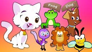 животное звук песня | узнать животных | Animal Sound Song | Baby Song & Nursery Rhymes | Kids Learn