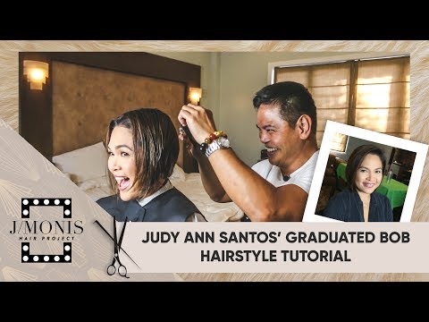 Judy Ann Santos' Graduated Bob Hairstyle Tutorial | Jing Monis : Hair Project