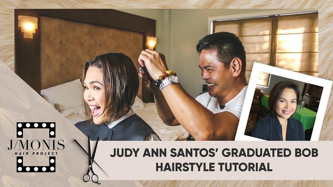 Judy Ann Santos\u0027 Graduated Bob Hairstyle Tutorial